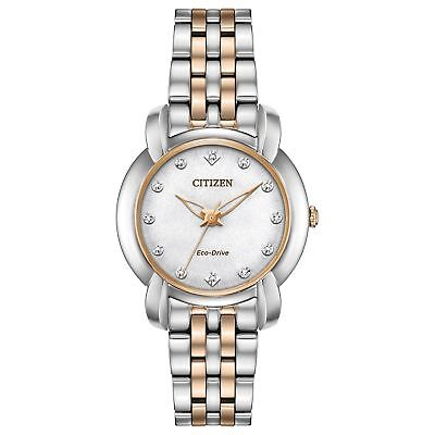 Citizen EM0716-58A Jolie Women's Watch Silver/Rose Gold Stainless Steel
