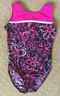 Girls Destira Leotard Gymnastics Pink Size S Small CUTE!