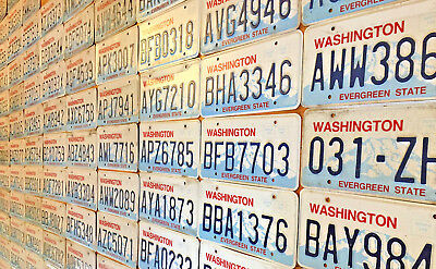 20 Washington State License Plates