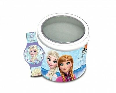 FROZEN DISNEY orologio da polso bambina con scatola in latta IDEA REGALO