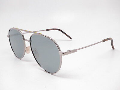 8d7693dbe525 New Authentic Fendi FF 0222 S 6LB T4 Ruthenium w Silver Mirror 6LBT4  Sunglasses