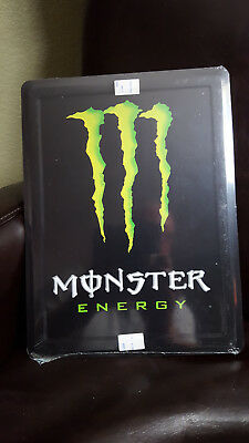 Monster Energy Drink Metal Collectible Sign - brand new & sealed
