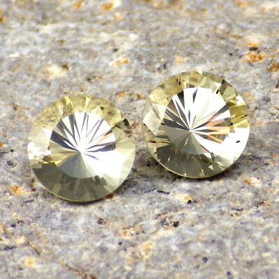 GOLDEN BERYL-BRAZIL 2.53Ct TW FLAWLESS-PERFECT MATCHING PAIR-VIDEO