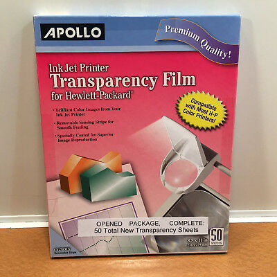 APOLLO Transparency Film For Ink Jet Printers CG7031S 50 sheets Opened Package