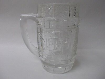 Vintage Dad's Root Beer Heavy Clear Barrel Style Glass Mug