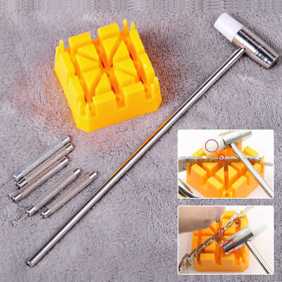 5Pc Band Link Hammer Punch Pin Watch Strap Holder Remover Watch Repair Tools Kit