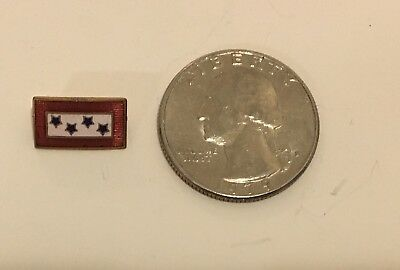 4 Star Wwii Ww2 Sons In Service Pin- Enamel Sweetheart Pin