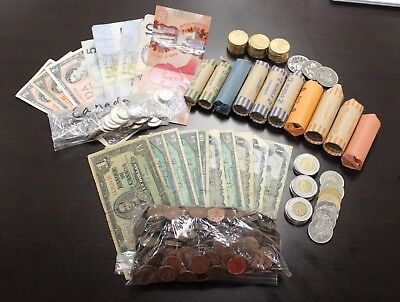 Lot Of Assorted Canada Coins & Currency Face Value $235