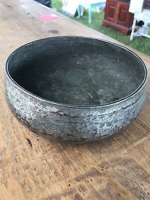 Hammered Silver Copper Tin Bowl Roycroft Sheffield Stickley Arts & Craft Antique