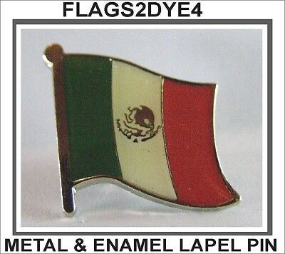 Mexico flag Mexican lapel pin badge INCLUDES AUSTRALIA POST TRACKING
