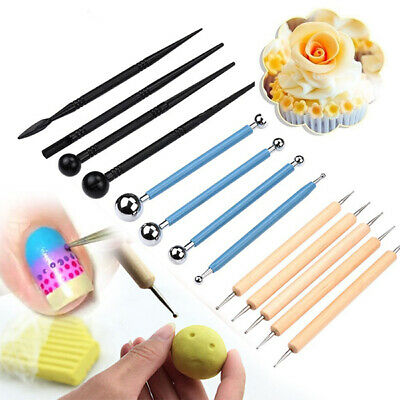 5/13x Ball Stylus Dotting Tools Clay Pottery Modeling Rock Painting Sculpting