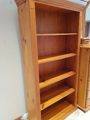 Tall timber bookcase - used