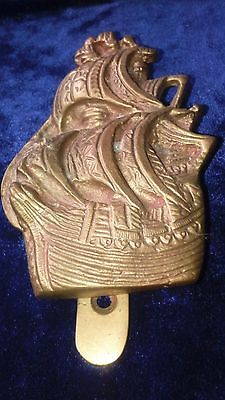 Antique/vintage Galleon Sailing Ship Brass Door Knocker -Heavy Cast Brass -