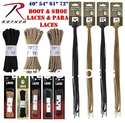 "72"" 61"" 54"" 40"" boot Laces Shoe Laces & Paracord Boot Laces Desert Black Coyote"
