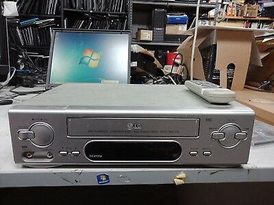 LG-VCR-CC470TW-VHS-Player-Silver-NTSC-Playback + Remote. Video doctor feature