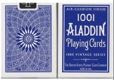 1 deck ALADDIN(1001) 1880 Dome Back BLUE AIR CUSHION playing cards-S105081515-3
