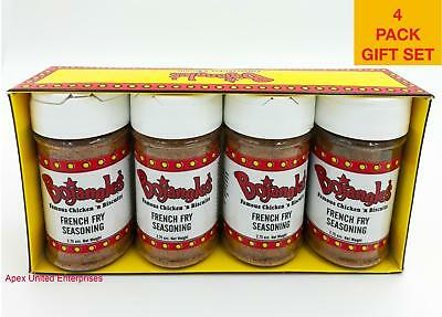 Bojangles' Famous Chicken 'n Biscuits French Fry Seasoning 4 Pack Gift Original