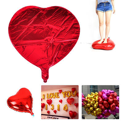 "10pcs 18"" Red Love Heart Foil Helium Balloons Wedding Birthday Party Decoration"