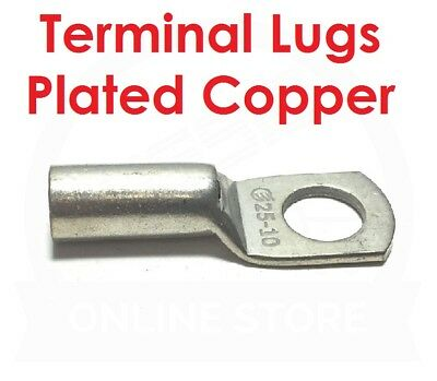 CABAC Lug Cable Battery Crimp Link 6mm²-70mm² Stud Uninsulated Copper Tin Plated