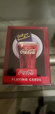 """Coca-Cola """" Visit Our Fountain"""" Playing Cards New Unopened Deck"""