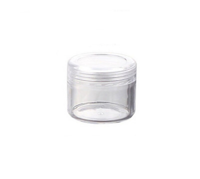 Pack of 12 Plastic Clear Empty 20g 20ml Cosmetic Containers Jars Makeup Cream St