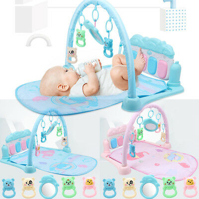Toddler Baby Fitness Frame Activity Gym Musical Piano Toy Crawling Playing Mat