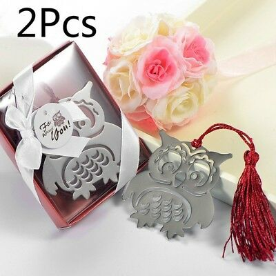 2pcs Owl Book Markers Birds with Tassels Metal Bookmark Book Page Holder