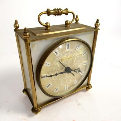 Vintage Estyma Electric Brass Square Analogue Carriage Clock - Spares or Repairs