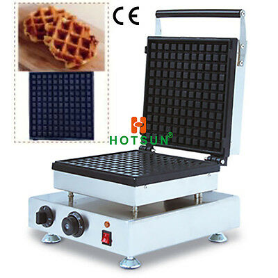 Commercial Non-stick Electric Belgian Liege Waffle Maker Iron Baker Mold Machine