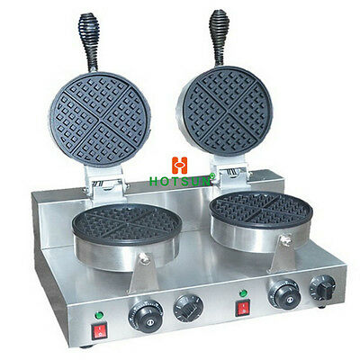 Commercial Non-stick Dual Electric Belgian Waffle Maker Iron Machine