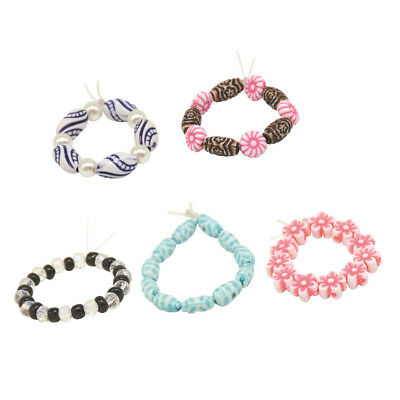 Multicolor Fashion Beaded Bracelet for 18inch American Girl Dolls Accs 5pcs