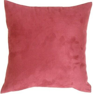 Pillow Decor - 15x15 Royal Suede Pink Decorative Throw Pillow. Free Shipping