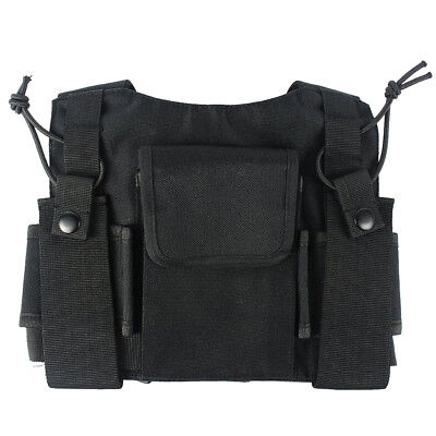 Security Radio Chest Holder Strap Harness Rig Pack Holster for Walkie Talkie
