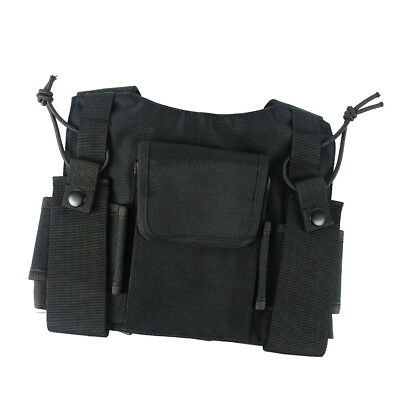 Lovoski Radio Chest Vest Harness Holster Holder Storage for Hiking Camping