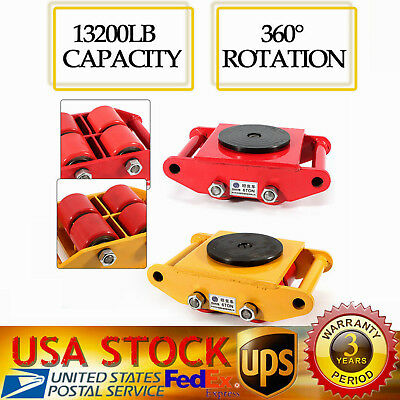 6T Industrial Machinery Mover with 360°Rotation Cap 13200lb Dolly Skate 4-Roller