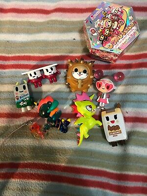Assorted Tokidoki Mermicorno, Unicorno, Donutella, Moofia Figurine Bundle