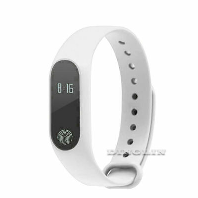 EPIC TIME-2018 Waterproof IP67 Band Smart Watch Wristband w/ Heart Rate-White