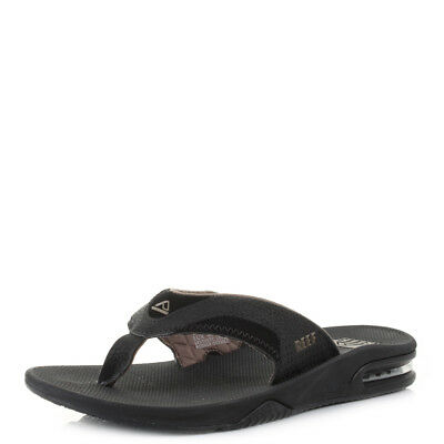 dd95758ba954 MENS REEF FANNING Black Brown Surf Bottle Opener Sandals Flip Flops Sz Size  - EUR 45
