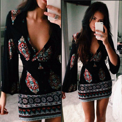Sexy Womens Summer Short Sleeve Bodycon Dress Ladies Party Short Mini Dress