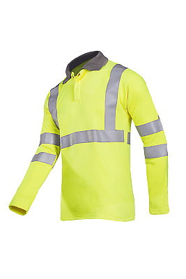 Sioen 3142A Ruapo Men FR Hi Vis Polo Shirt Flame Retardant Antistatic Size Large
