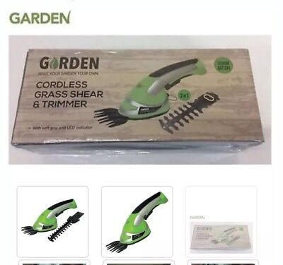 Garden Cordless Grass Shear & Hedge Trimmer Hand Held 3.6V , 2-In-1 RRP £40