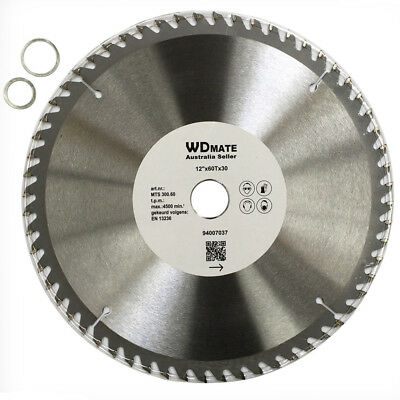 Wood Timber Cutting Disc 300mm 60T Circular Saw 30mm Saw Blade 4500rpm H4007037