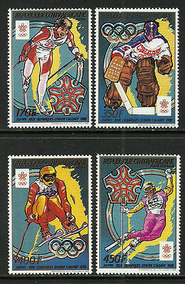 Central Africa #899-902 Mint Never Hinged Set - 1988 Winter Olympics