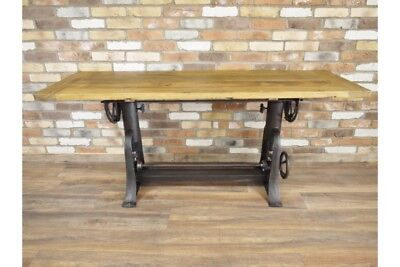 Industrial Reclaimed Wood / Iron Dining Kitchen Table Urban Living - 181 x 66cm