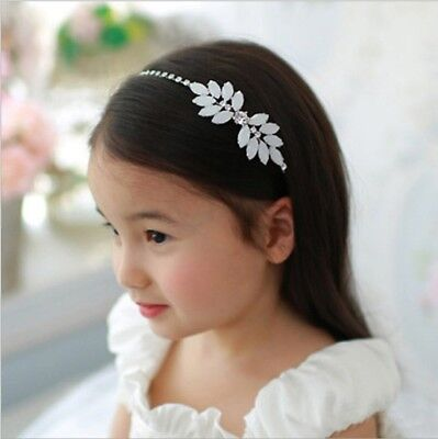 Kids Floral Rhinestone Crystal Tiara Wedding Flower Girl Headband Headpiece UK