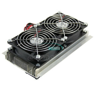 Thermoelectric Peltier Refrigeration Cooling System DIY Kits Cooler Double Fan