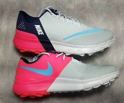 e804c04ccfcf New Nike Women s Fi Flex Golf Shoe Size 6 Pure Platinum Racer Pink 849973- 001