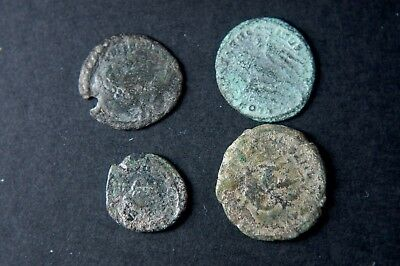 Ancient Roman Bronze Coins - Lot of 4 Authentic and Unresearched