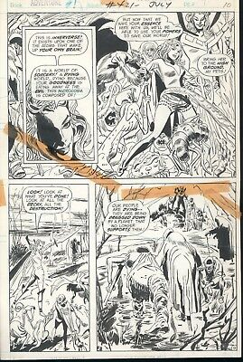 Original Mike Sekowsky Comic Art From Adventure Comics #421 Page 9
