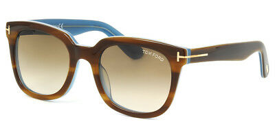 a9dc34ea2f00 Tom Ford Wellington Square Sunglasses Sny Brown Blue Brown Gradient Ft 0211  47F